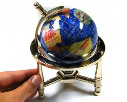 GEMSTONE GLOBE  CARRIBEAN COLOUR 8 CM/HT 5.5 INCHES TW1030