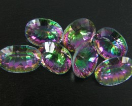 PARCEL 7 PC MYSTIC QUARTZ  VVS  FACETED 38.4 CTS  GTT 413
