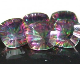 PARCEL 5 PC MYSTIC QUARTZ  VVS  FACETED 17.80 CTS  GTT 432