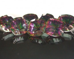 PARCEL 7 PC MYSTIC QUARTZ  VVS  FACETED 25 CTS  GTT 438