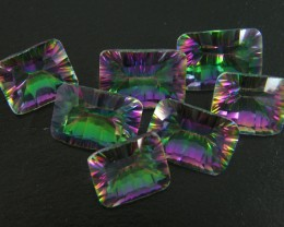 PARCEL 7 PC MYSTIC QUARTZ  VVS  FACETED 43 CTS  GTT 463