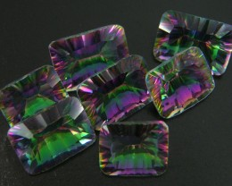 PARCEL 7 PC MYSTIC QUARTZ  VVS  FACETED 42.55 CTS  GTT 467
