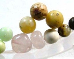 ASSORTED NATURAL BEADS (PARCEL)  13CTS FNP1861 (NP-GR)