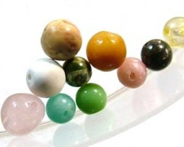 ASSORTED NATURAL BEADS (PARCEL)  9.90CTS FNP1862 (NP-GR)