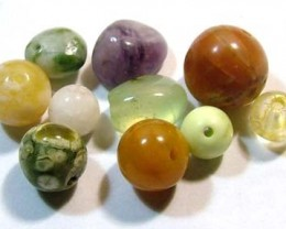ASSORTED NATURAL BEADS (PARCEL)  19.75CTS FNP1867 (NP-GR)
