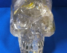 LARGE QUARTZ SKULL CARVING  1.6 KILO AAT 480