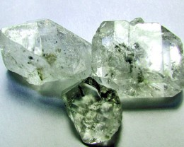CRYSTAL QUARTZ-LIKE HERKIMER-DIAMONDS 3PCS  CTS -AS-1723