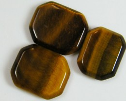 PARCEL OF 3 SQUARE  11X8X2 TIGER EYE CARATS 6.75 AAT 700