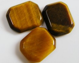 PARCEL OF 3 SQUARE  11X8X2 TIGER EYE CARATS 6.05 AAT 702