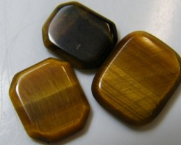 PARCEL OF 3 SQUARE  11X8X2 TIGER EYE CARATS 6.65 AAT 705