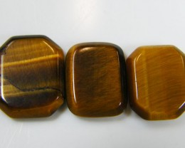 PARCEL OF 3 SQUARE  11X8X2 TIGER EYE CARATS 6.85 AAT 709