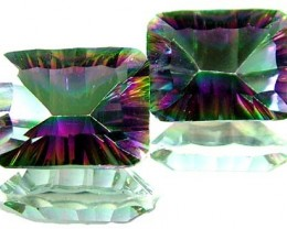 PAIR 'GALAXY' MYSTIC QUARTZ 21.20 CTS [TS 263]