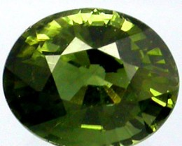 TOURMALINE 1.55 CARAT WEIGHT OVAL CUT GREEN-BLUE GEMSTONE
