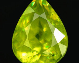 1.91 Carat Sphene Pear VVSI Beautiful Color