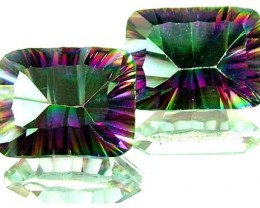 PAIR 'GALAXY' MYSTIC QUARTZ 21.25 CTS [TS273 ]