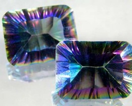 PAIR 'GALAXY' MYSTIC QUARTZ 21.90 CTS [TS293 ]