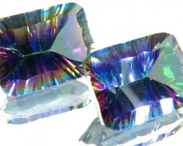 PAIR 'GALAXY' MYSTIC QUARTZ 21.50 CTS [TS304 ]