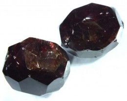 GARNET NATURAL FACETED BEAD DRILLED 2 PCS 85  CTS  NP-865