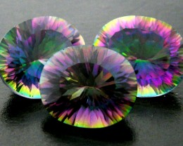 PARCEL 3 PC MYSTIC QUARTZ  VVS  FACETED 13.10 CTS  GTT 623