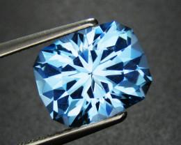 Blue Topaz 4.68 ct Custom Cut Topaz Gemstone