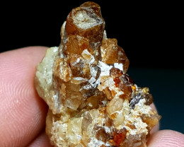 Amazing Natural color Damage free Spessartine Garnet cluster specimen 60Cts