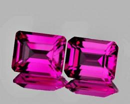 9x7 mm Octagon 2 pcs 4.82cts Pink Topaz [VVS]