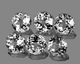 6.00 mm Round 6 pcs 5.71cts White Topaz [VVS]