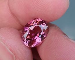UNHEATED 4.08 CTS NATURAL STUNNING HOT PINK TOURMALINE MOZAMBIQUE