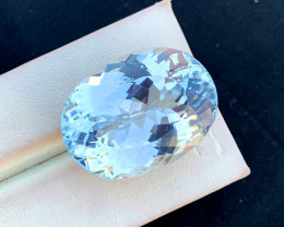 44.80 cts Aqua Color Kunzite  Gemstone From AFG