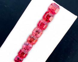 11.40 Carats Natural Asscher Cut Tourmaline Gemstones