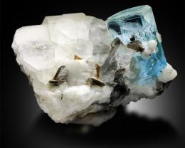 Aquamarine Crystal with Quartz Feldspar and Mica Specimen from Pakistan - 2
