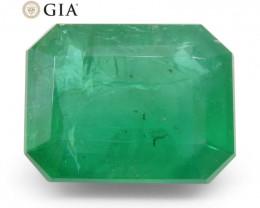10.36ct Octagonal/Emerald Cut Emerald GIA Certified