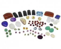 100cts+ Mixed Gem Lot: Sapphire, Emerald, Opal, Amethyst -$1 No Reserve Auc