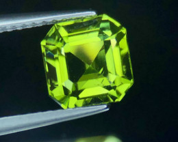 Attractive Asscher Cut Peridot with Nice Color & luster