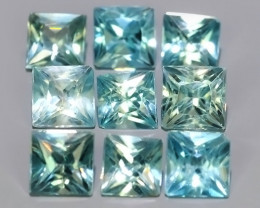 4.30 CTS~EXCEPTIONAL NATURAL RARE FANCY SQARE CUT BLUE~ZIRCON EXCELLENT!!