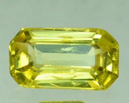 ~UNHEATED~ 0.58 Cts Natural Sapphire Yellow Emerald Cut Australia