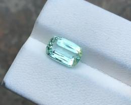 2.45 Ct Natural Green Sea Foam Color Transparent Tourmaline Gemstone