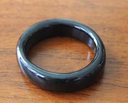 21.20ct Type A Black Jadeite Ring