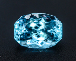 Flower Cut Sky Blue 11.90 ct Natural Topaz ~ Swiss ~ G