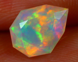 Welo Opal 1.07Ct Natural Ethiopian Play of Color Welo Opal C2607