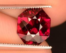 Lovely Cut 2.60 ct Reddish Fancy Garnet Ring Size