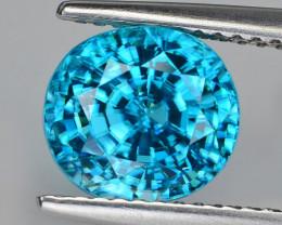 5.59 Ct Cambodian Zircon Sparkling Luster Gemstone BZ1
