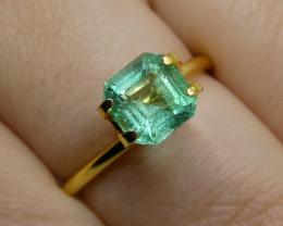1.52ct Square Emerald