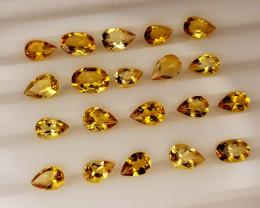 7.65Crt Madeira Citrine Lot Natural Gemstones JI139