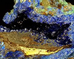184Crt Azurite & Malachite Specimen Natural Gemstones JI139