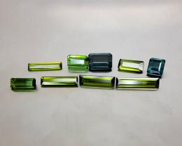 9Crt Tourmaline lot Natural Gemstones JI139