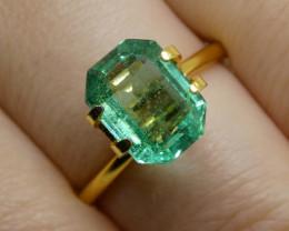 2.45ct Emerald Cut Emerald
