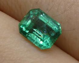 0.90ct Emerald Cut Emerald
