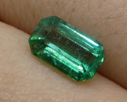 1.03ct Emerald Cut Emerald