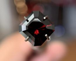 1.95 Ct Square Brilliant Dark Red Garnet